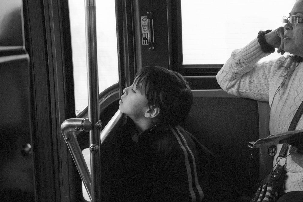 G Train shuttle Bus Brookln, N.Y
