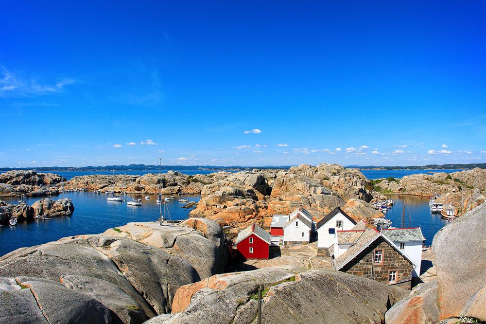 Utsikt fra fyret mot vest og Larvikkysten
