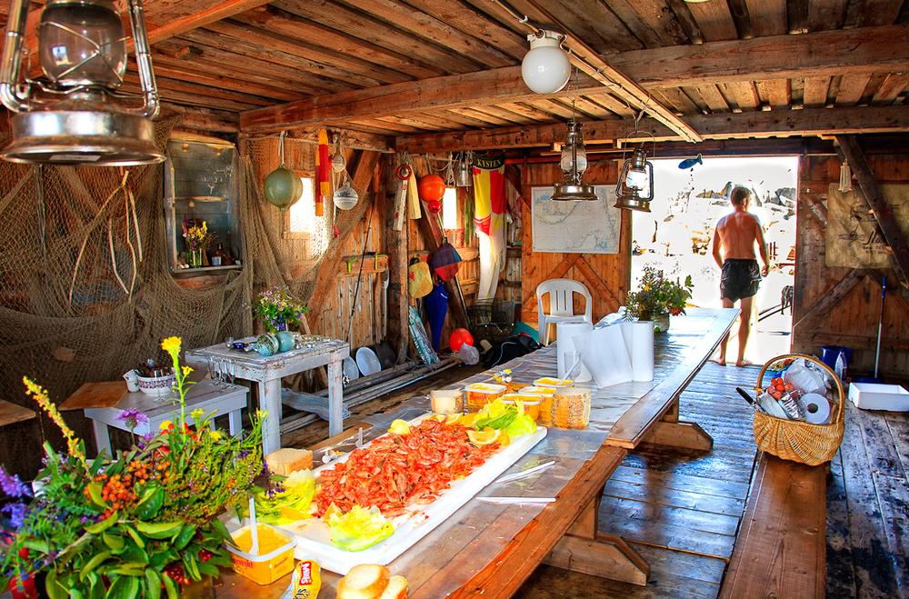 Reker, loff, majones i skjønn forening med herlig kystkultur