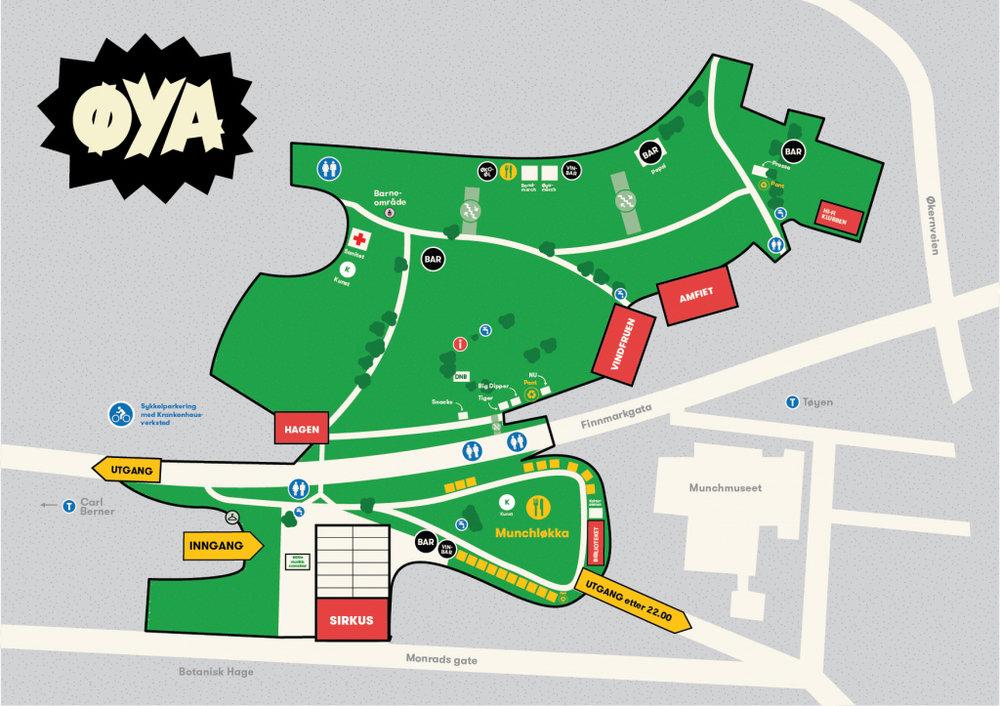 kart over øyafestivalen OSLO FJORD GUIDE — Øyafestivalen 2017   ØYA   Oslo kart over øyafestivalen
