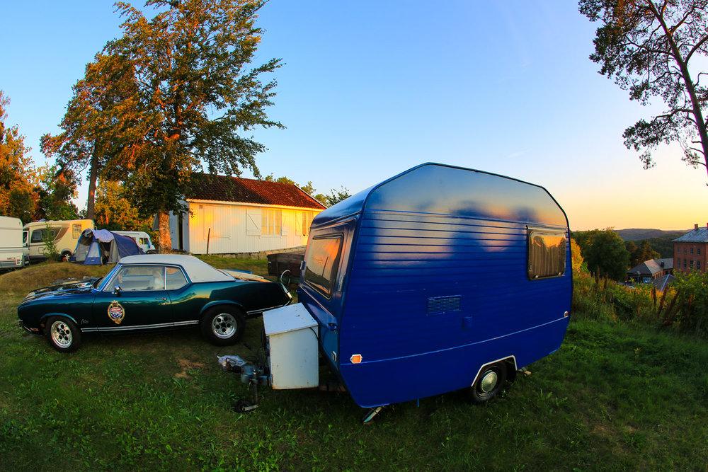 Campingplassen på Fredriksten festning i Halden.