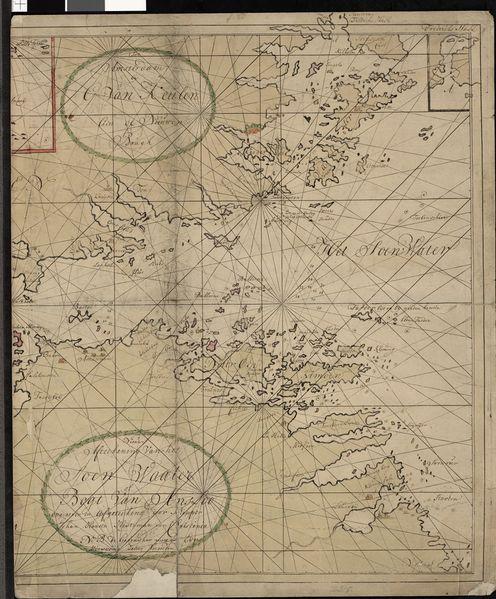 Oslofjorden er på dette kartet kalt «Soen Water»