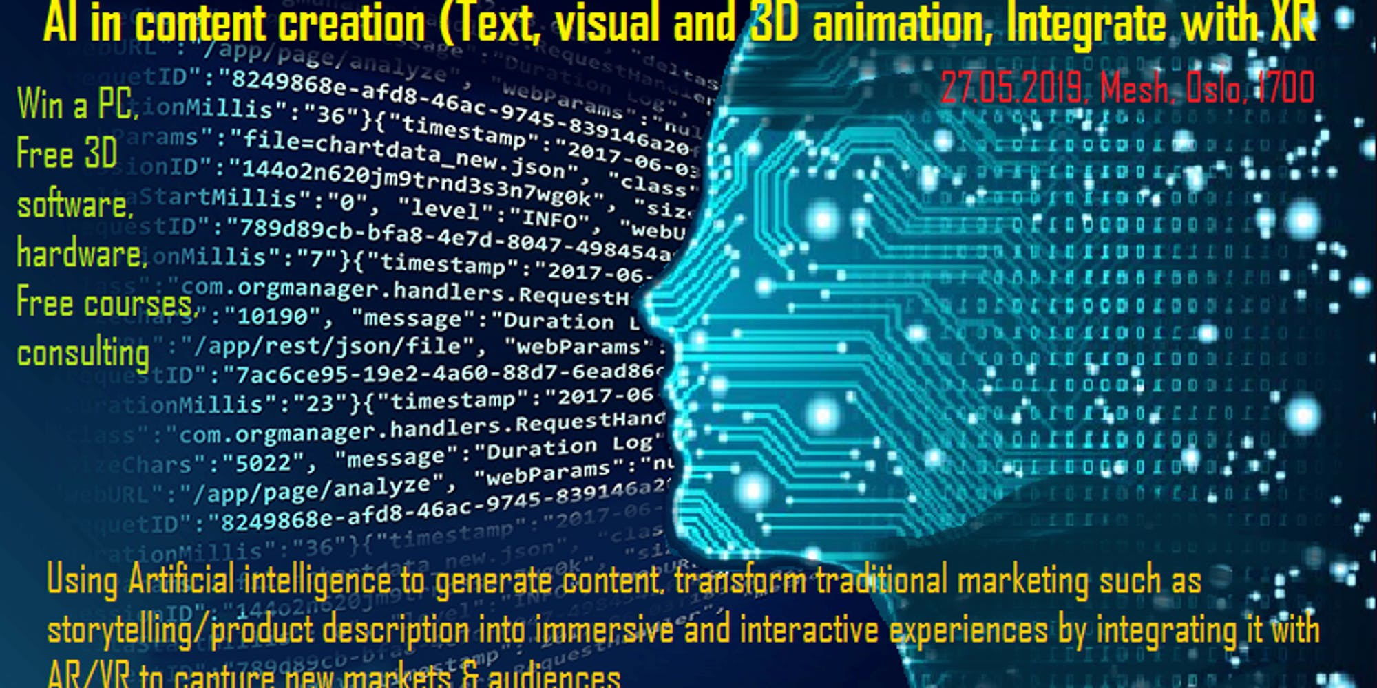 AI in content marketing (Text, visual and 3D animation) & Integrate