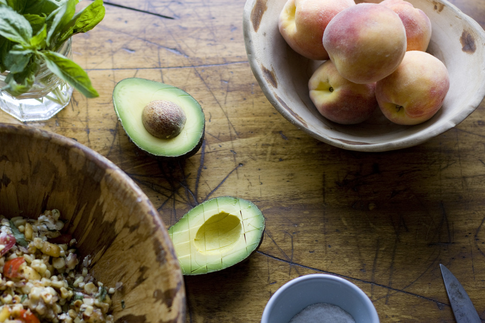 toasted corn + peach salad | Feast or Fallow