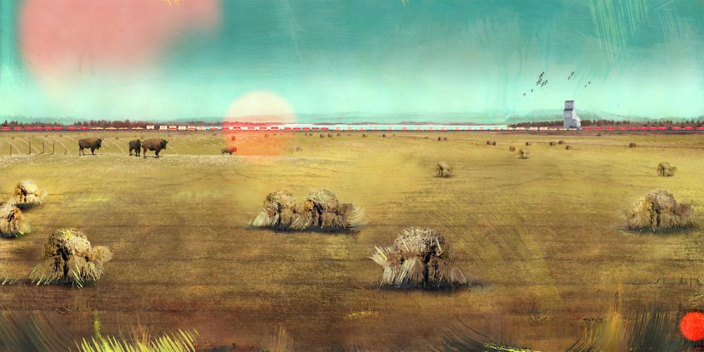 2-Van Charles-Prairie Life-Acrylic-Digital collage.jpg