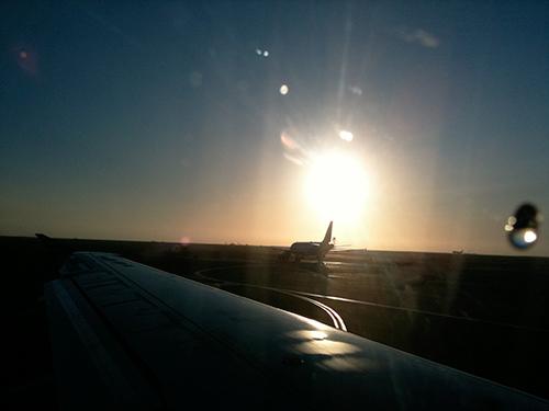 Morning Plane