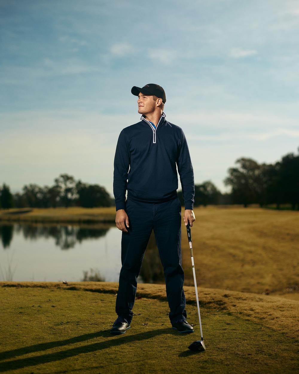 Soon to be professional golfer Bryson DeChambeau at the Dragonfly Golf Club.