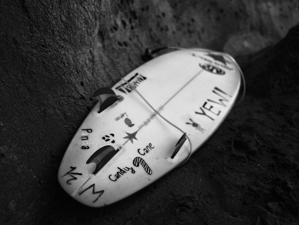 Surf Board.  The Hook