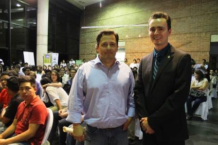 Jose Labbé, Director de Ingienería y Sostenibilidad en SD y Presidente del GGBC, junto a Axel Paredes de Paredes Alemán arquitectura.