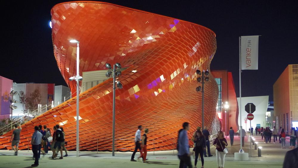 Con el diseño de los pabellones, la palabra arquitectura adquiere diversas connotaciones.
