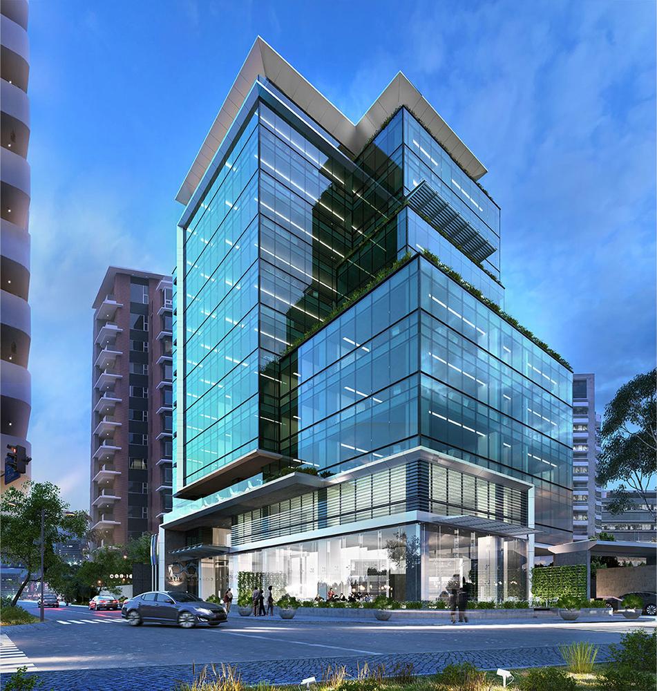 Visualización de proyecto Óptima Centro de Negocios. Visite www.optima.com.gt