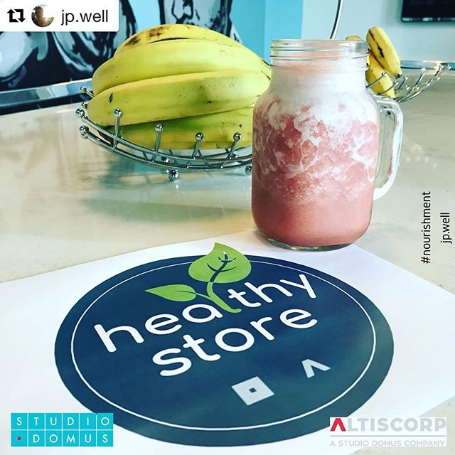 #Repost @jp.well ・・・ At our headquarters of Studio Domus & AltisCorp, we decided to eliminate the sugary drinks vending machine and with help of our collaborators started an internal Healthy Store with Natural Drinks and Smoothies. If people can choose, most of them will incline for the healthy option. 😎 #well #leed #nourishment #nourish #wellness #fruits #smoothie #healthylifestyle #smartoffice #poweroffice #interiordesign #studiodomus #altiscorp #architecture