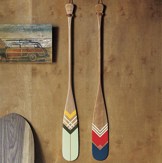 Artisan green canoe paddle. $399 CAD.