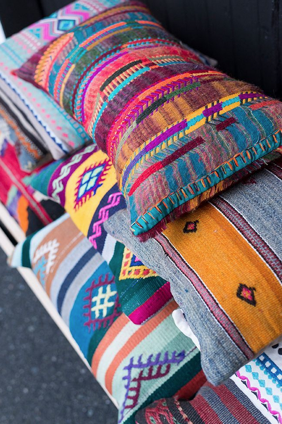 Assorted Boho Pillows.