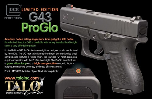 glock 43 glopro talo distributors inc