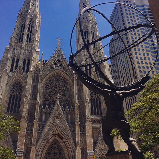 #Atlas and St Patrick's #cathedral