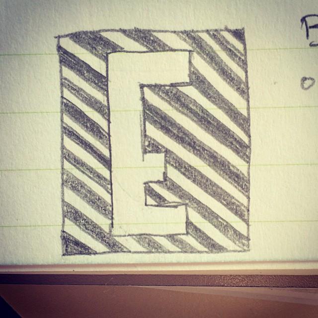 E, where I incorporate my love of stripes.