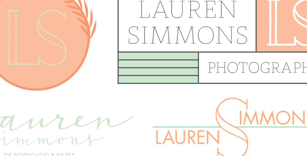 Lauren Simmons Rustic Modern Logo Concept