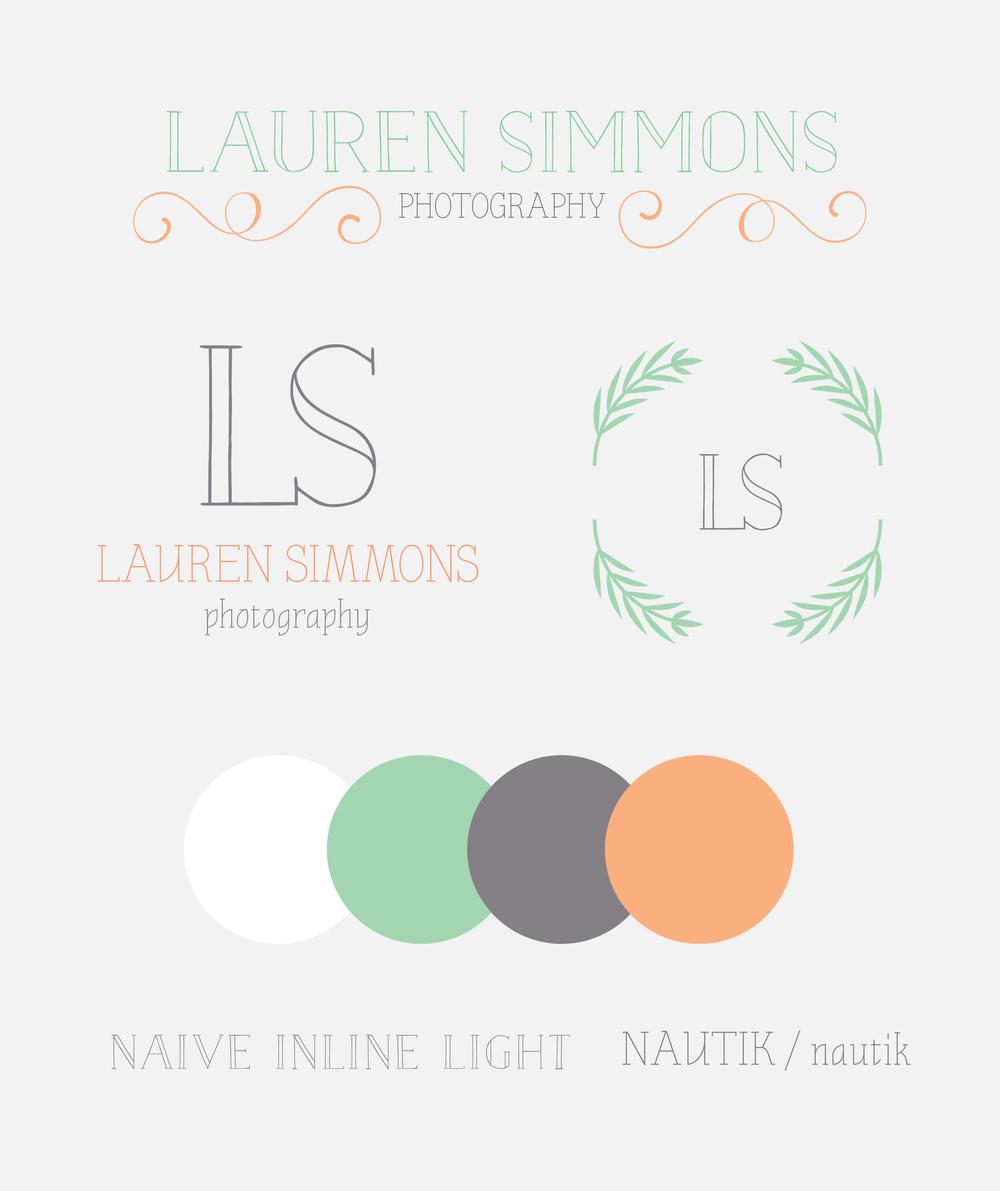 """Lauren Simmons """"rustic modern"""" branding"""