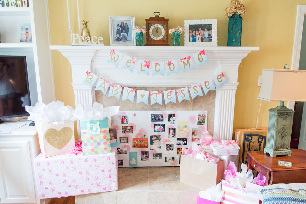 Painted Canvas Baby Shower Banner [Photo: Courtney Timms Photography]