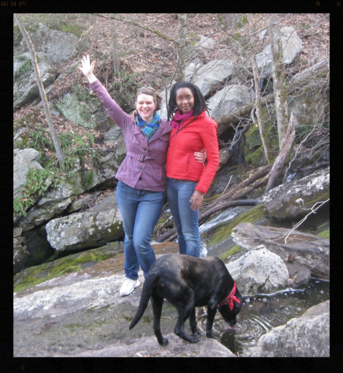 Hannah and Tabitha at Center for Symbolic Studies, April 2013