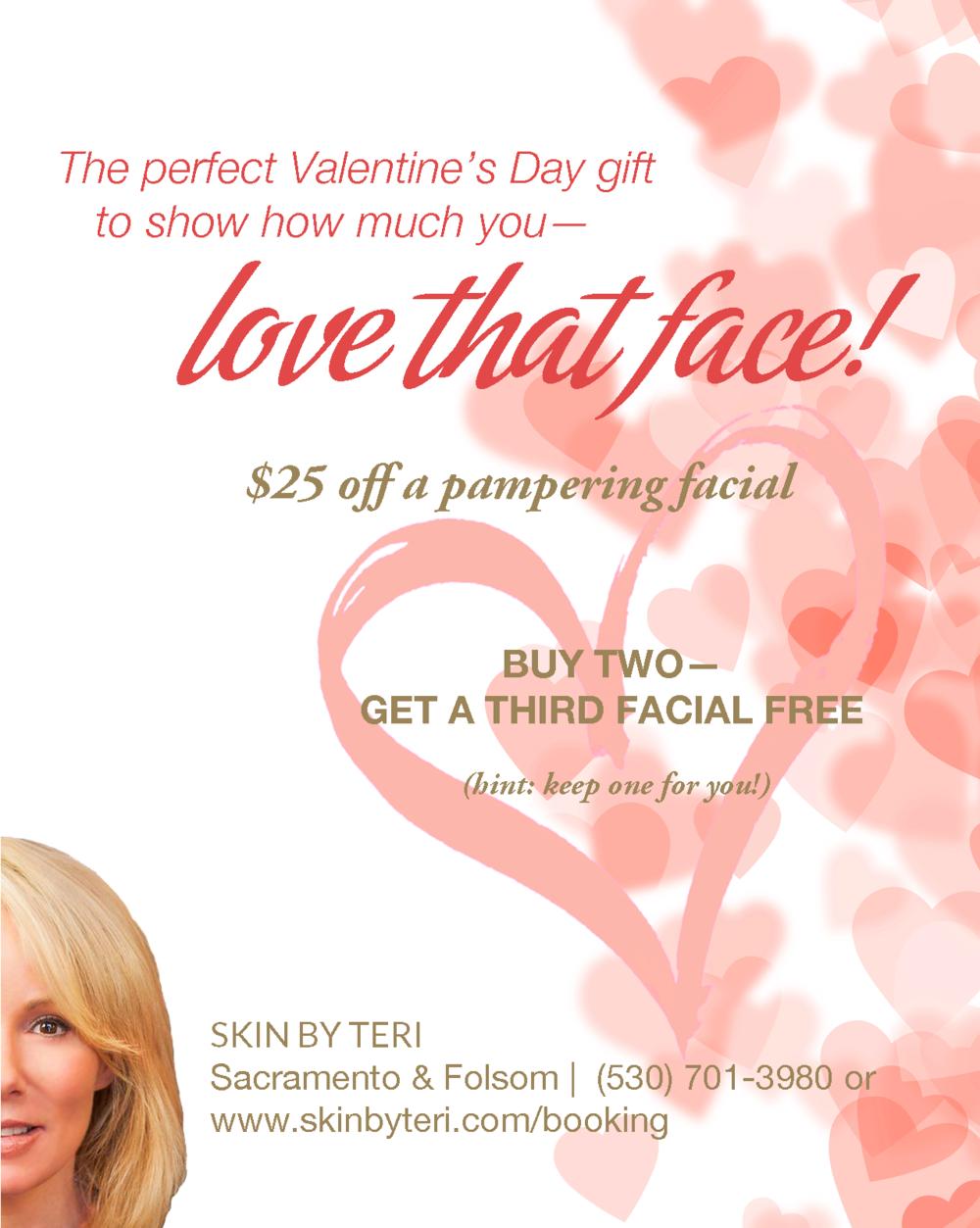 "Sacramento skin care specialist Terri ""Teri"" Hoblit Valentine's Day special"