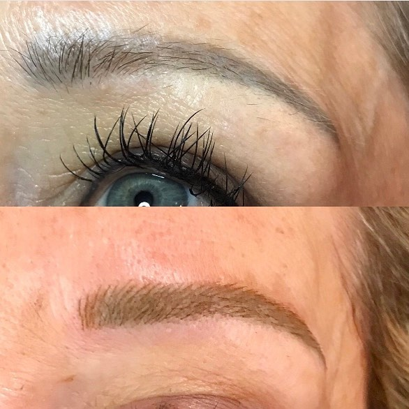 Old tattooed eyebrows rejuvenated #microblading