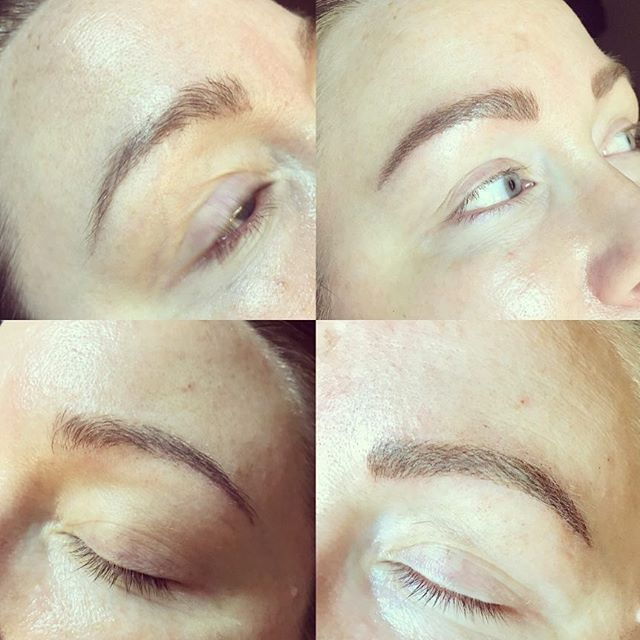 Another happy client that had old tattooed eyebrows which needed fine tuning with microblading 😊