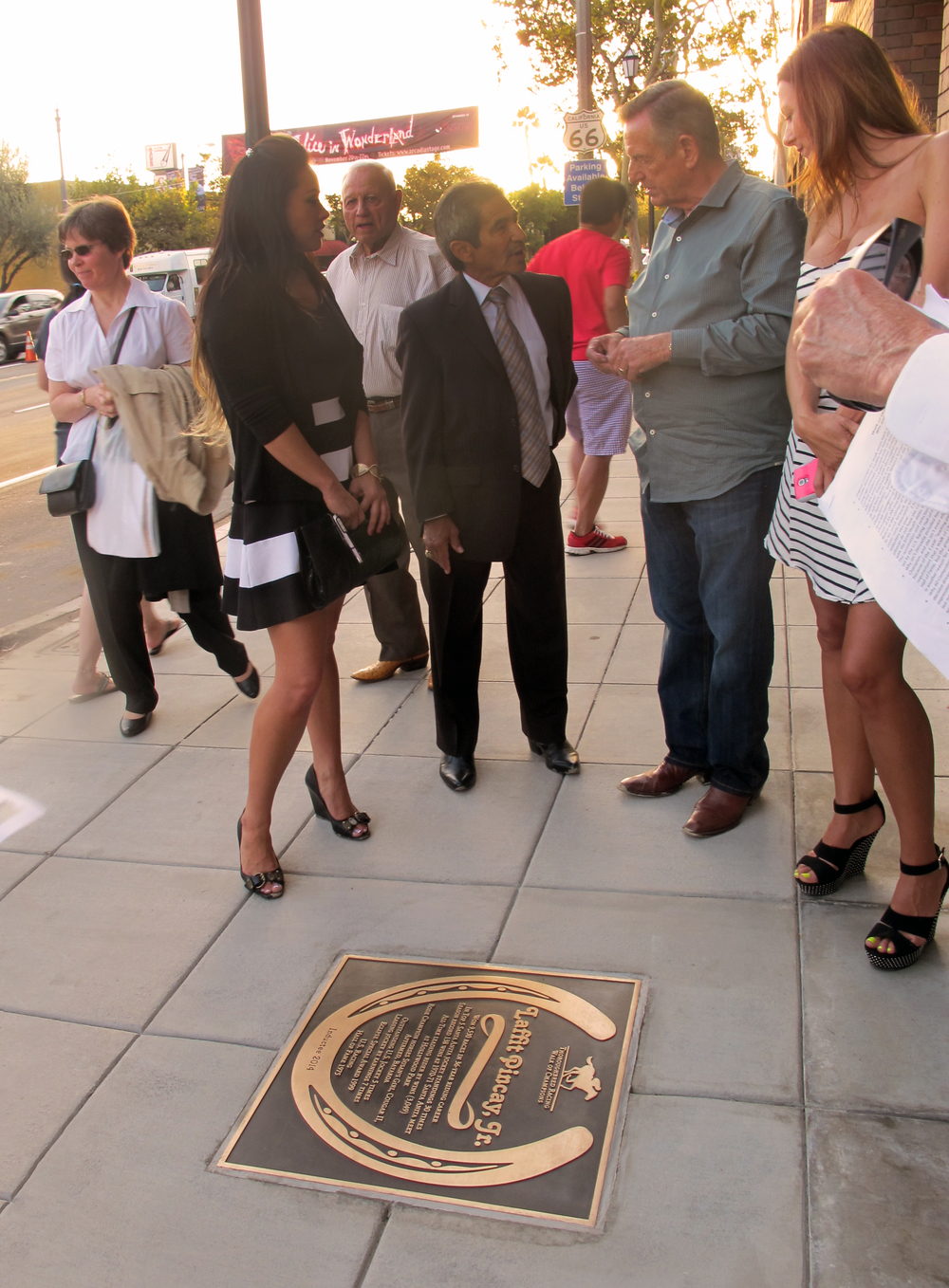 Laffit-Pincay-bronze plaque-thoroughbred-arcadia-walk of fame