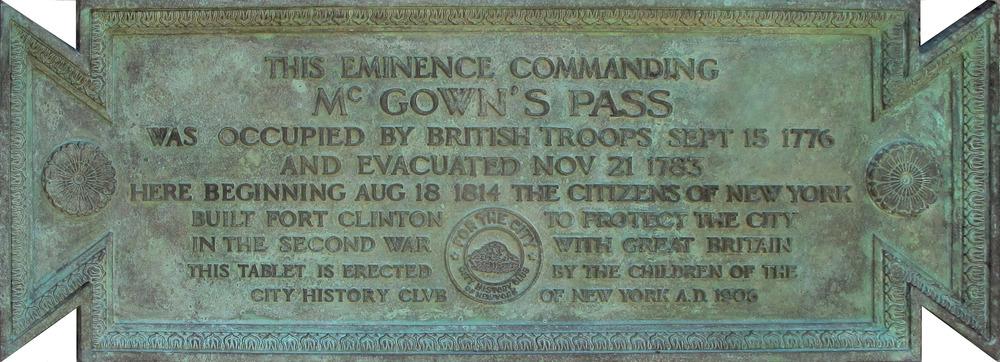 2015 Replica of the original McGown's Pass plaque