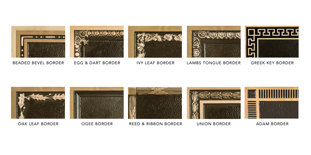 decorative borders bronze plaques