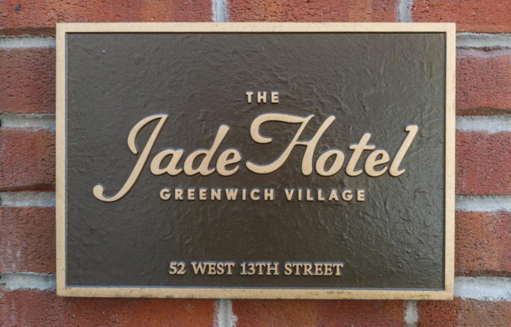 jade hotel-bronze plaque-logo plaque-nyc signage.jpg