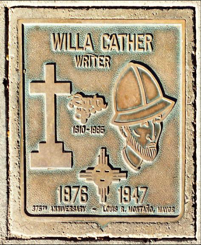 santa fe-willa cather-bronze plaque.jpg