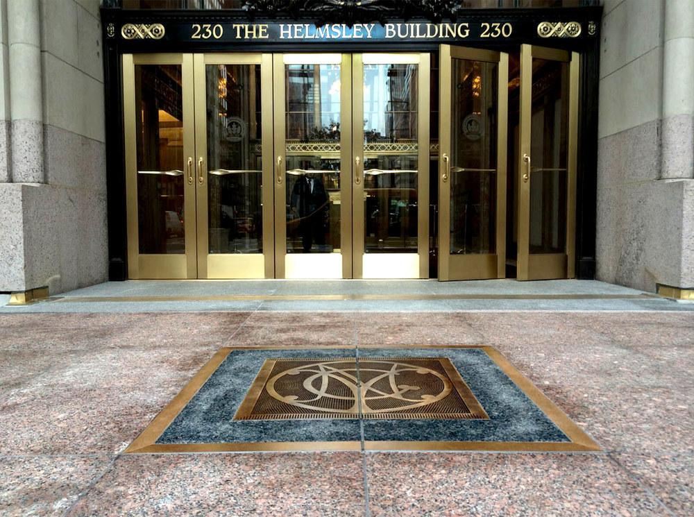 Helmsly NYC Plaque - Bronze Inset Plaque