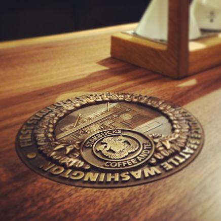 Cast Bronze Medallion - Starbucks Pikes Place - Bronze Relief Medallion - Masterwork Plaques