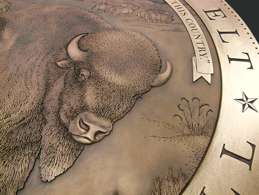 Theodore Roosevelt - Buffalo Medallion - Museum of Natural History - NYC - Masterwork Plaques