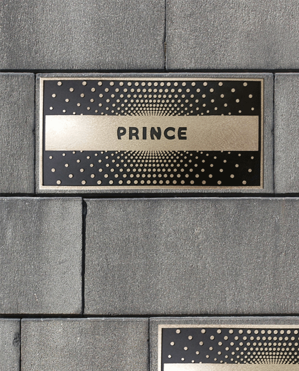 Cast Bronze Prince Plaque - Apollo Theater - Masterwork Plaques