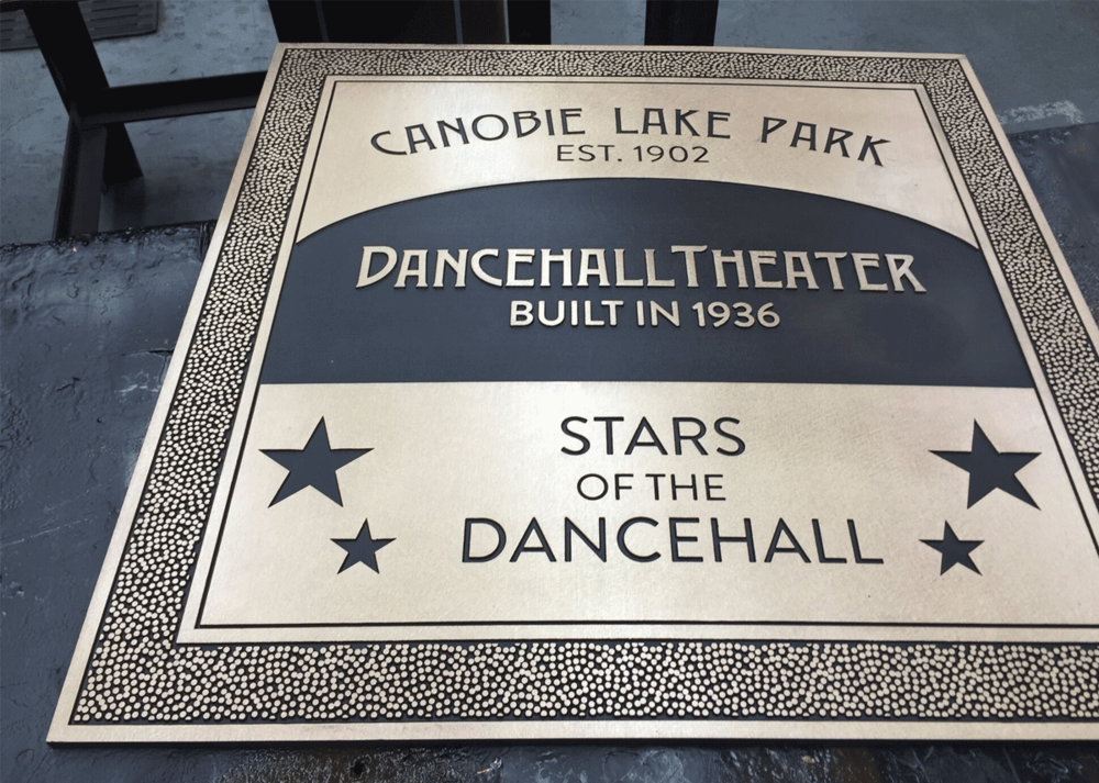 Canobie Lake Park Walk of Fame - Bronze Plaques - Stars of the Dancehall plaques