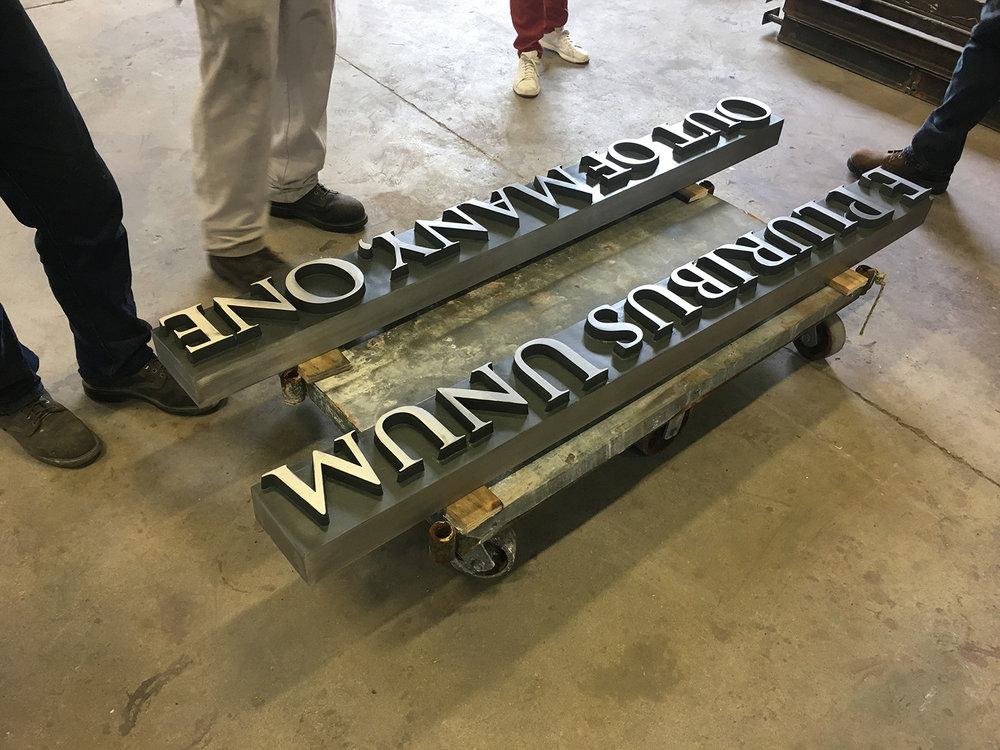 Cut Metal Letters