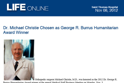 Dr. Christie Humanitarian Award