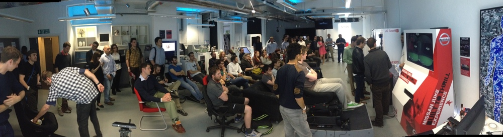 A full house for Inition's VR showcase, the host of Podrift's first public showing.