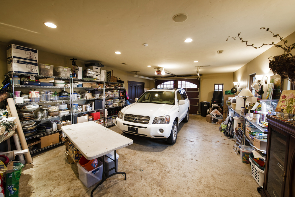 Her oversized one-car garage.