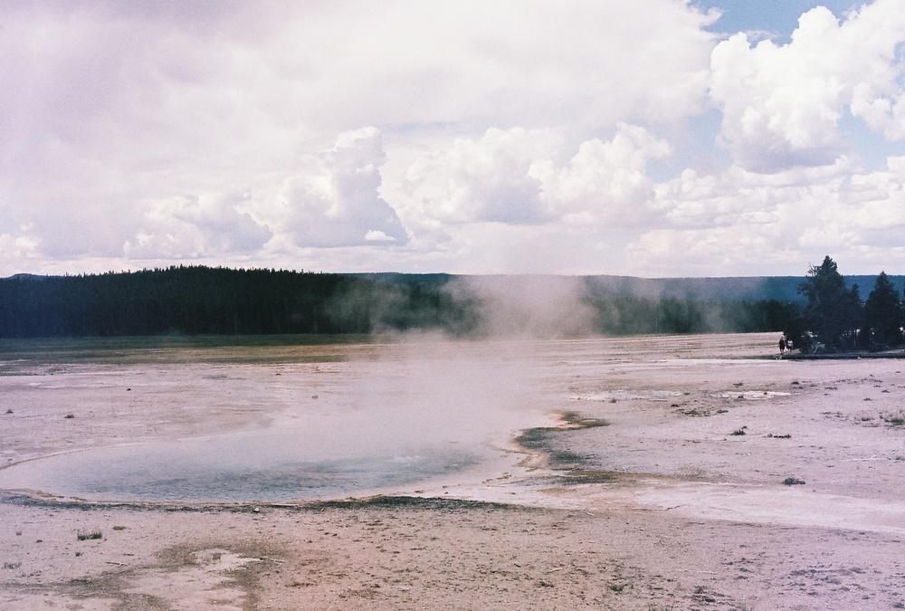 Hot springs in Yellowstone National Park