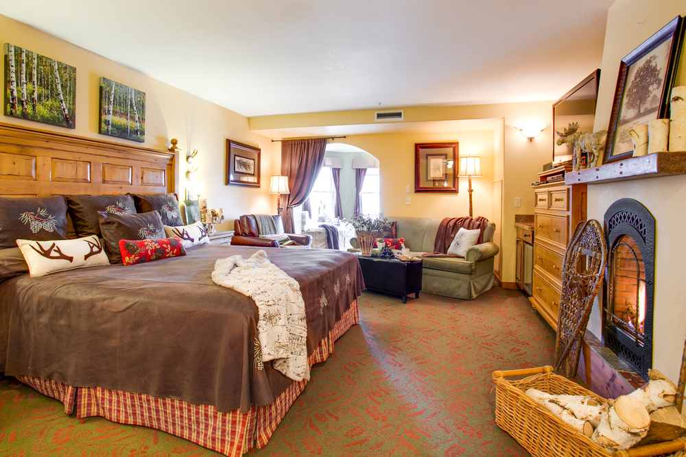 Elements of decor have been added in this photograph to show the vision behind the new rooms in the addition.