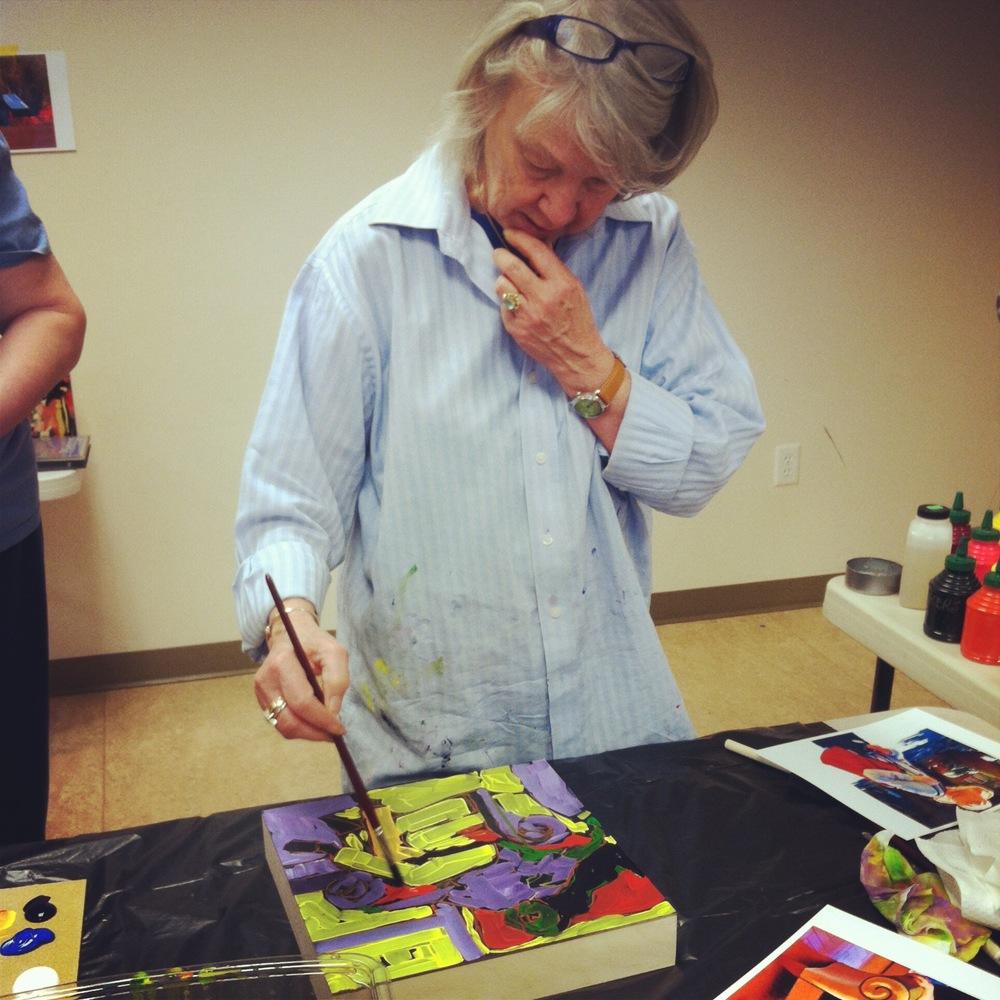 Carole Wade, painting