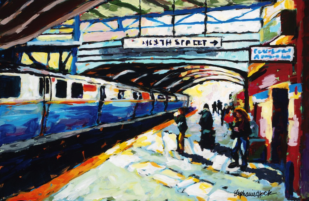 "I did one of my favorite paintings I've ever done right after Bob's class, ""Train to Boston."" Loosening up worked!"