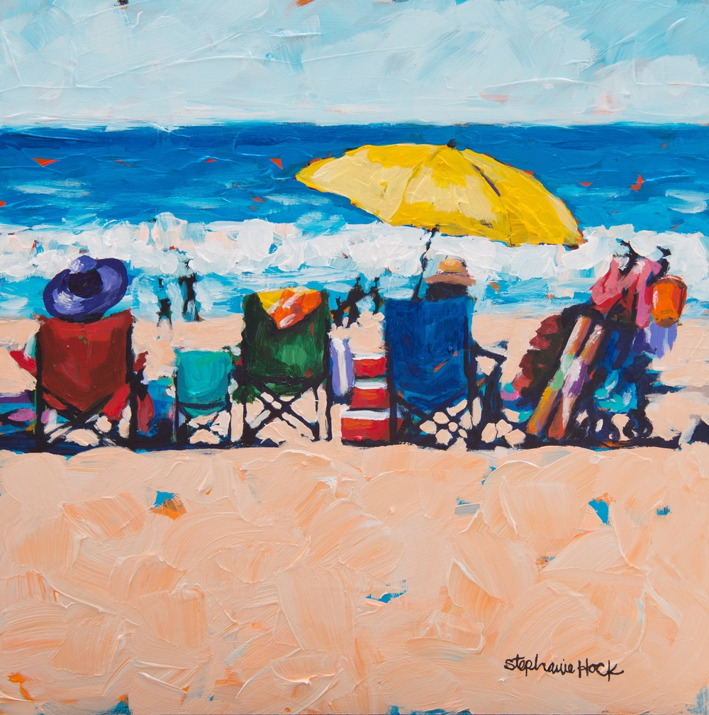 """Day at the Beach"" available at  Evergreen Gallery"