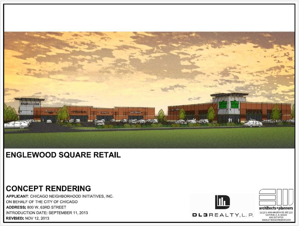 Conceptual rendering of retail and Whole Foods buildings.
