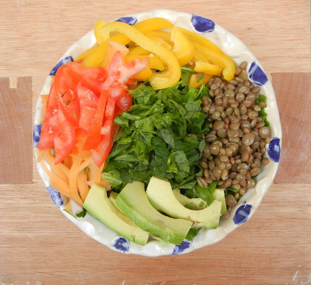bowl rissotto con ensalada