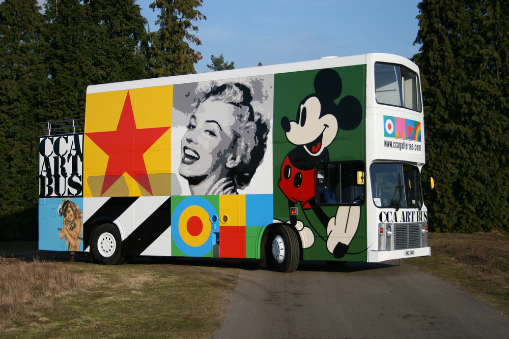 The CCA Art Bus designed by Sir Peter Blake